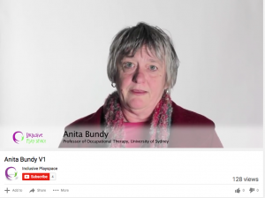 Anita Bundy speaks about inclusive play