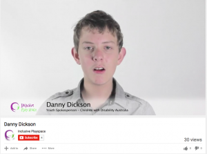 Danny Dickson speaks about why playspaces need to be inclusive