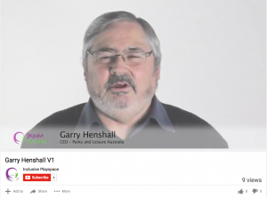 Garry Henshall speaks about inclusive play